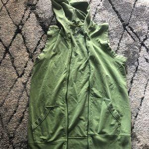 Gap hooded cotton tunic vest